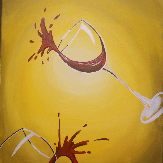 Double Wine Splatter