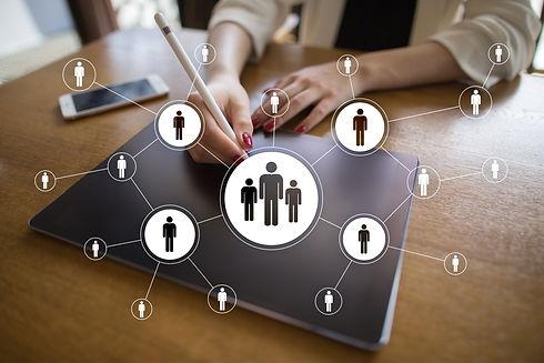 HR Human resources management. Recruitme