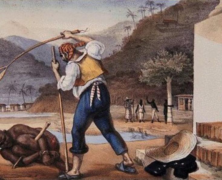 Debret - Castigo de escravo