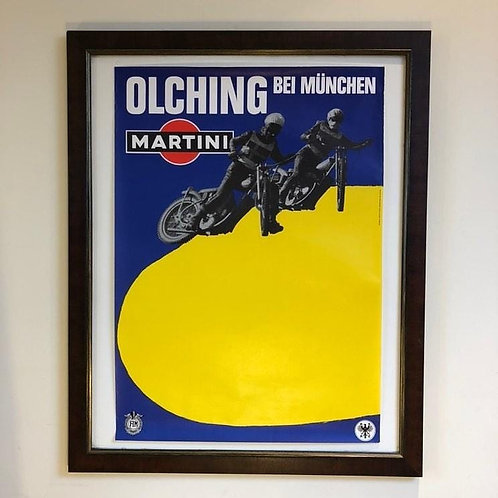 Martini Motorcycle Poster
