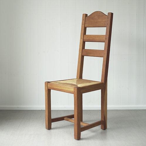 Set of Danish Rush Seat Chairs