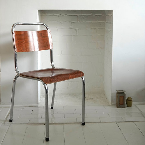 Danish Plywood & Chrome Chair