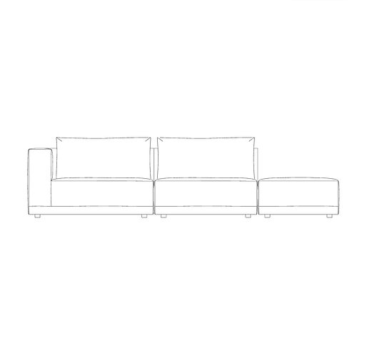 PP//01 Five Seat Open Sofa