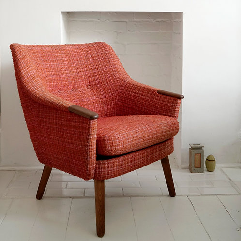 Danish Lounge Chair w/ Teak Paws