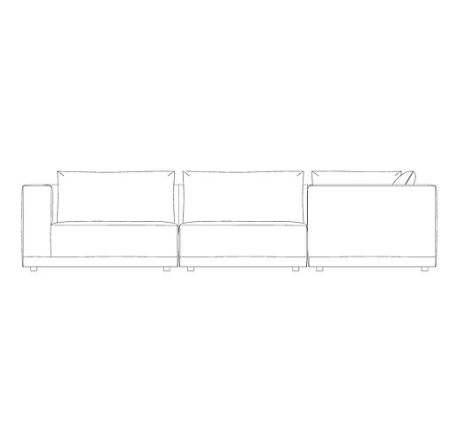 PP//01 Medium Corner Sofa