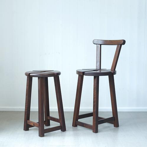 Pair of Modernist Bar Stools