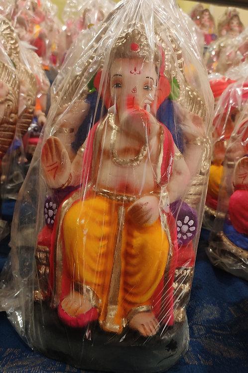 Ganesha Idol Shadu Height :- 12.5 inches