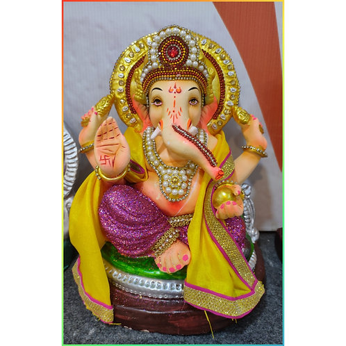 Ganesha Idol Shadu Height :- 10.5 inches