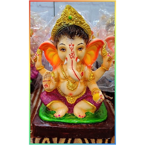 Ganesha Idol Shadu Height :- 12 inches