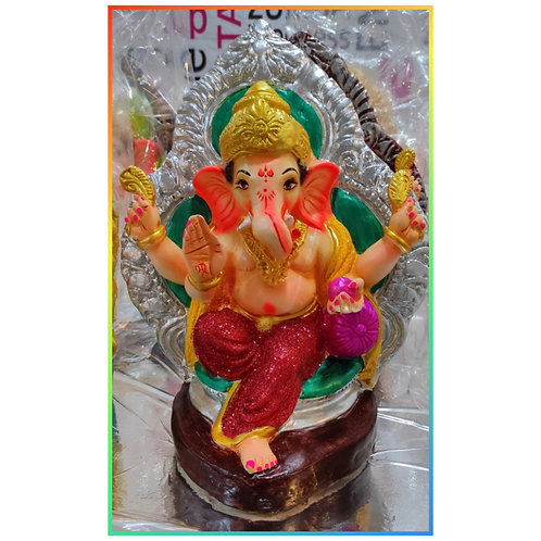 Ganesha Idol Shadu Height :- 13 inches