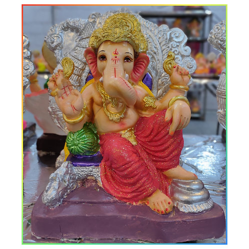 Ganesha Idol Shadu Height :- 14.5 inches