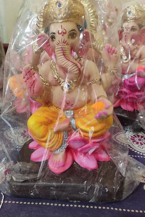 Ganesha Idol Shadu Height :- 9.5 inches