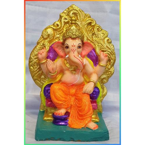 Ganesha Idol Shadu Height :- 15 inches