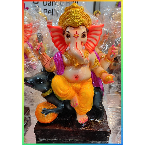 Ganesha Idol Shadu Height :- 12 inches