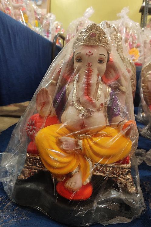 Ganesha Idol Shadu Height :- 11 inches
