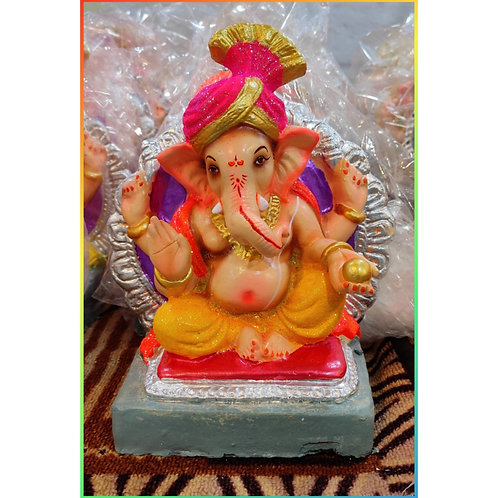 Ganesha Idol Shadu Height :- 10 inches