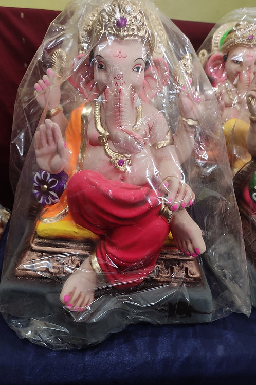 Ganesha Idol Shadu Height :- 14 inches