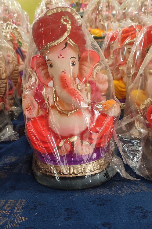 Ganesha Idol Shadu Height :- 11 inches