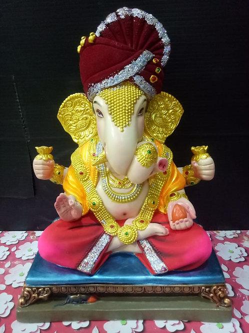 Ganesha Idol Height :- 17 inches
