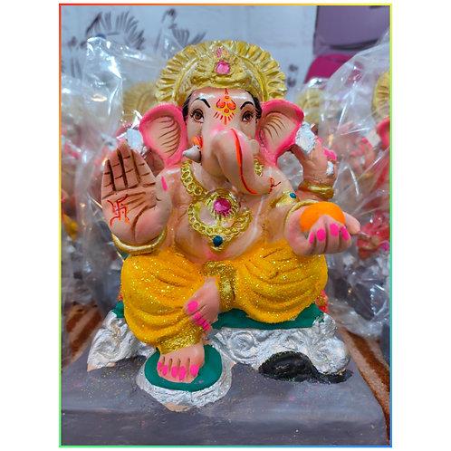 Ganesha Idol Shadu Height :- 9 inches