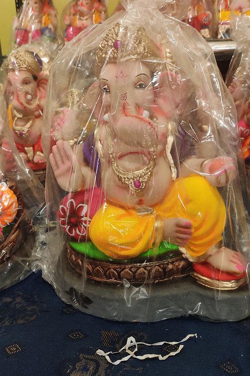 Ganesha Idol Shadu Height :- 14.5 inches