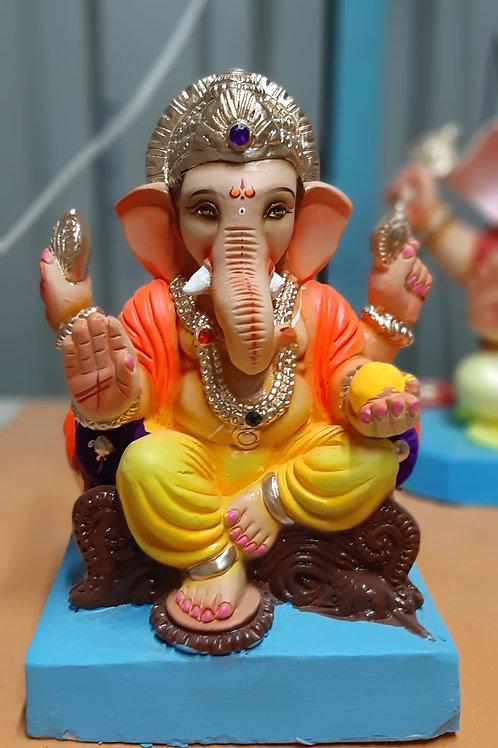 Ganesha Idol Sadhu Height :- 0.75 feet (9-10 inches)