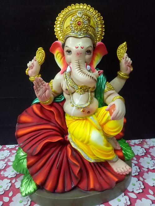 Ganesha Idol Height :- 19 inches
