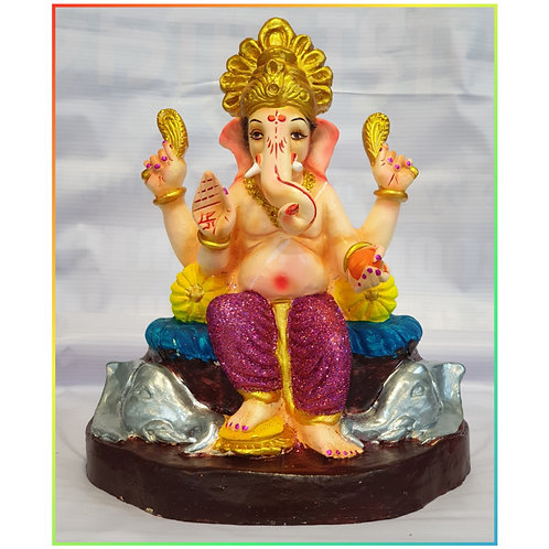 Ganesha Idol Shadu Height :- 10.5 inches