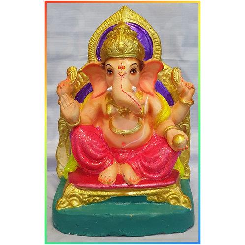 Ganesha Idol Shadu Height :- 13.5 inches