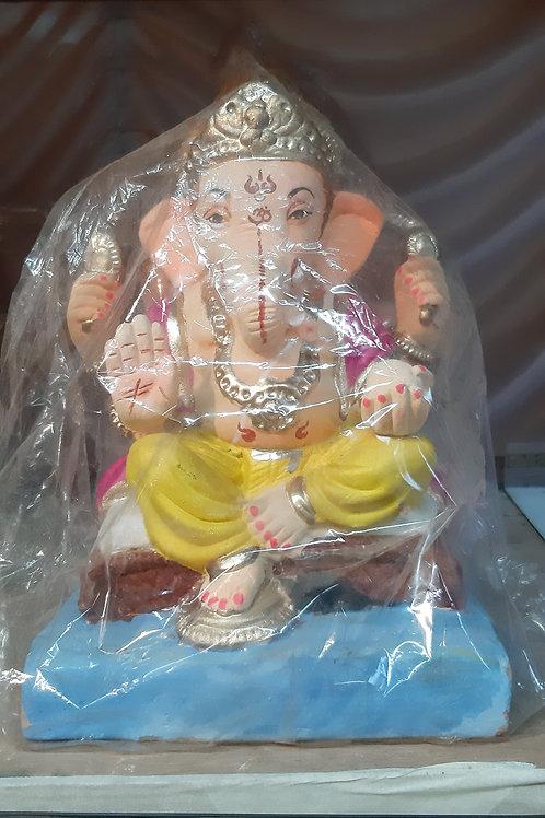 Ganesha Idol Shadu Height :- 14 inches