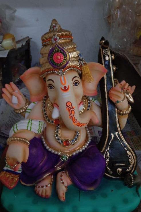 Veenavadak (unique piece) Shadu, Height:- 13 inches