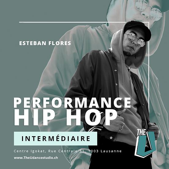 Esteban Flores • Intermédiaire : Performance Hip-hop • Mercredis 20h30, Lausanne