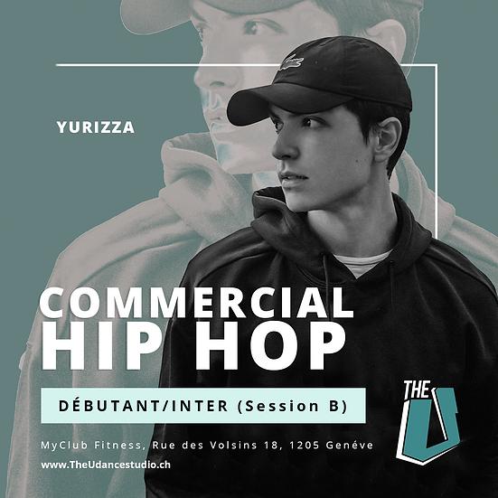 Yurizza • Débutant/Intermédiaire : Commercial Hip-hop • Mardis 19h00, Genève