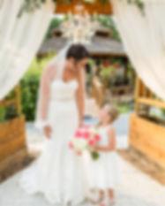 Roberts-BrownWedding bride and flower gi