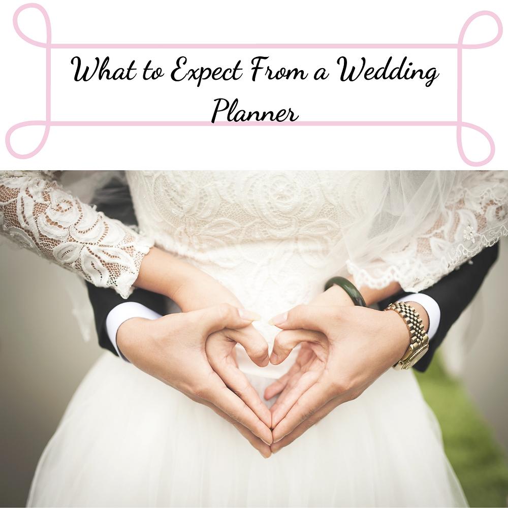 Lace wedding dress, hands in heart shape