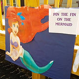 Pin the tail on the mermaid. Ariel.