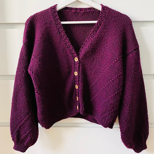 Knitting Pattern modified Amedeo Cardigan