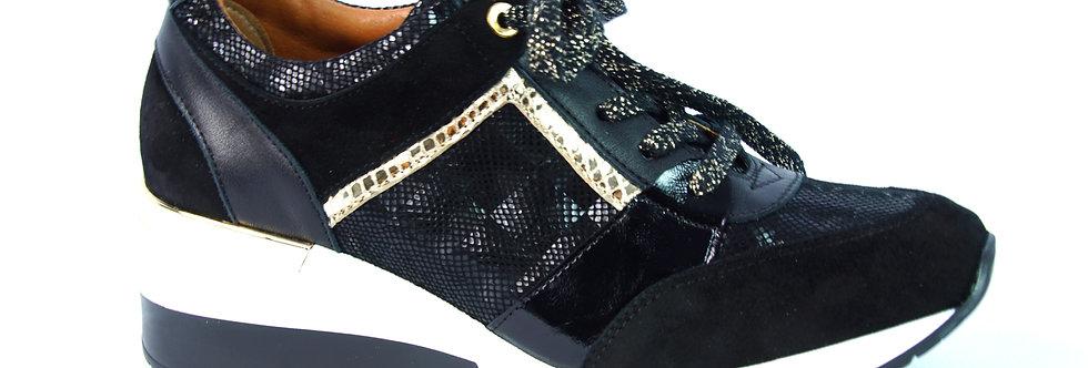 FABIO FABRIZI 860    Sneakers Czarny+Złoto