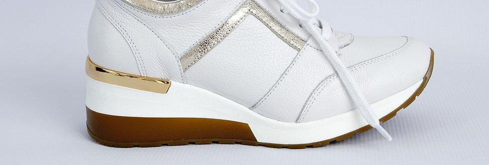 FABIO FABRIZI 860                                           Sneakers Biały+Złoto