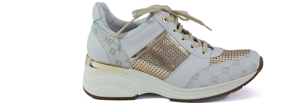 FABIO FABRIZI 860    Sneakers Biały +Złoto