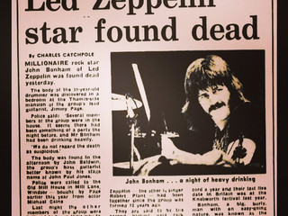 The Day Led Zeppelin Crashed