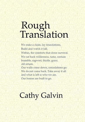 Rough Translation. A new collection of poems by Cathy Galvin
