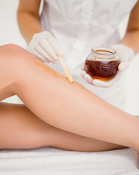 Hair Removal on the legs by Waxing