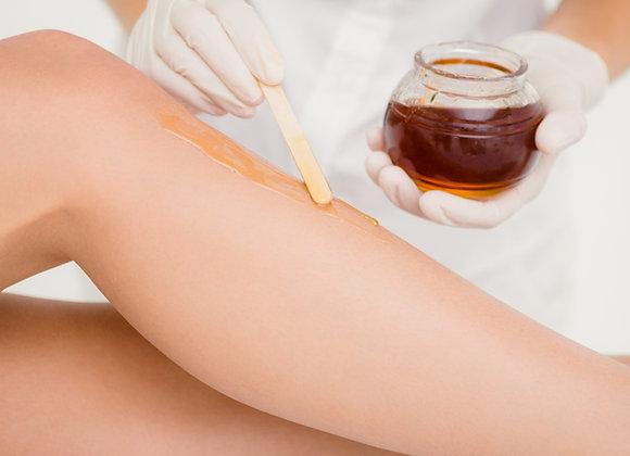 Depilación de piernas completas con cera