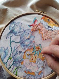 La renarde aux magnolias N°1 (5)
