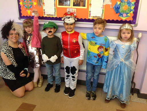 Year One enjoyed dressing up for World Book Day.