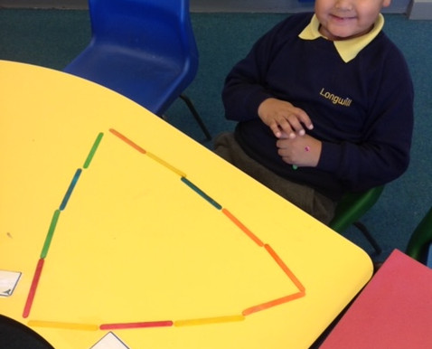 Hummingbirds ( Y1) have been having fun learning about and making 2D shapes