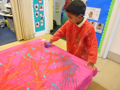 Foundation have been learning about Bonfire Night and have created some beautiful firework art!