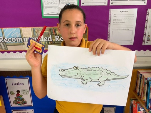 Well done to this pupil in Crocodiles Class, who has earned his pen licence