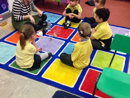 Birch Class (Y1) carried out a science experiment to see what would happen if The Gingerbread Man go